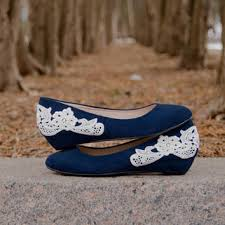 wedding shoes navy blue wedding shoes navy blue wedges bridal from walkinonair on etsy