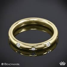 3mm diamond comfort fit scattered diamond wedding band whiteflash 53