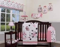 Pink And Grey Crib Bedding Sets Bed Nursery Decor Sets Crib Bedding Set With Bumper White