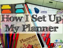 how i set up my planner 2015 16 teacher and home planner
