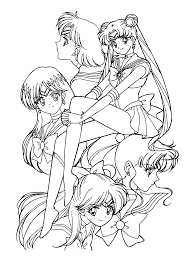 nice sailor moon coloring pages gallery kids 7374 unknown