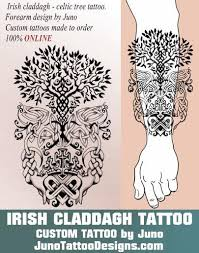 claddagh celtic tree juno by junotattooart
