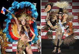 national costumes on show at the 2014 miss international