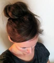 sock bun hair modern beauty series how to do a sock bun easy