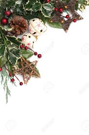 border with jingle bells and other