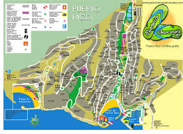 Puerto Rico Beaches Map by Puerto Rico Map Puerto Rico Gran Canaria Online Guide