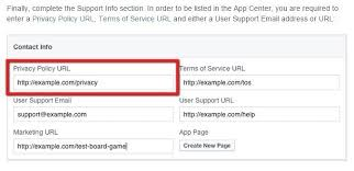 terms of service url for facebook app termsfeed
