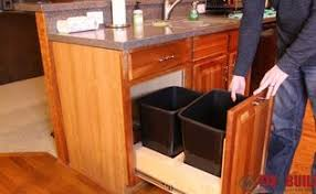 Kitchen Cabinet Trash Can Diy Pull Out Trash And Recyling Bin Hometalk