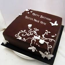 sister name with butterfly chocolate birthday cakes pix