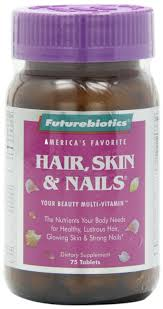 futurebiotics hair skin u0026 nails supplement tablets 75 tablets