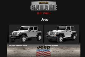 jeep jamboree 2017 virtually modify your jeep with interactive garage