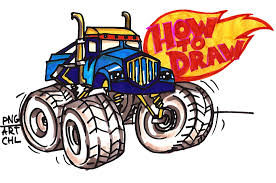monster trucks drawings how to draw crusher from blaze and the monster machines youtube