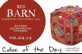 color of the day red barn concepts and colorways