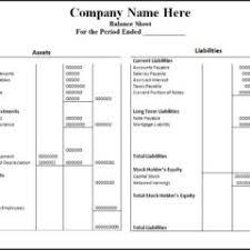 blank excel balance sheet template for business cash flow