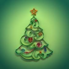 paper quilling christmas tree decoration greeting royalty free