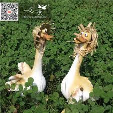 2pcs duck ornaments garden ornaments animal sculptures