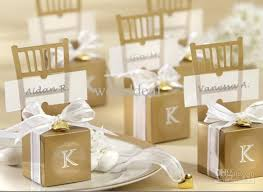 wedding favor gift chair diy favor box gold silver weds boxes 4 4