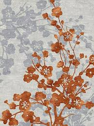 orange and grey flower carpet apricot dreams of home