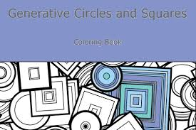 coloring book generative circles and squares art