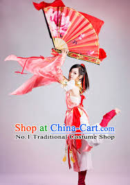 Chinese Costume Halloween Asia Fashion Chinese Classical Dancing Fan