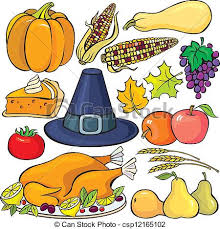 thanksgiving day icon set vector clipart search illustration