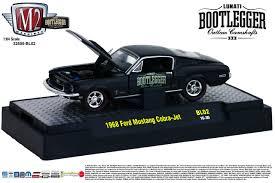 64 Mustang Black M2 Machines Castline Semi Gloss Black 1968 68 Ford Mustang Cobra