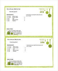 word recipe template