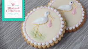 baby shower cookies how to make a stork cookie classic baby shower cookie