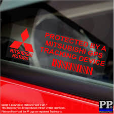 mitsubishi sticker mitsubishi gps tracking device security window stickers 87x30mm