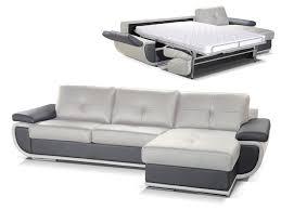 canapé d angle en cuir gris canapé d angle convertible cuir italien 2 coloris orgullosa