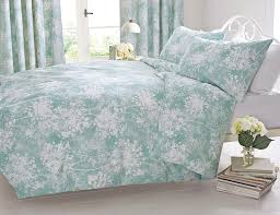 buy soft aqua wild allium print bed set from the next uk online
