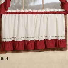 Ruffled Kitchen Curtains by Jayden Ruffled Tier Window Treatment