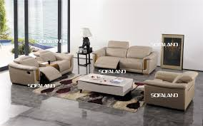 china low key luxury recliner sofa set in italian leather and