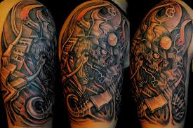 half sleeve biomechanical tattoo designs tattoos book 65 000