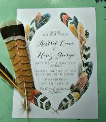 bohemian wedding invitations bohemian wedding invitations feather wedding print at home or we