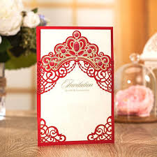 Crown Business Cards Aliexpress Com Buy Luxury Crown Wedding Invitations Red Laser