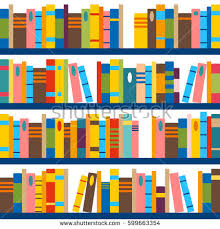 book wrapping paper vector pattern made books shelves seamless stock vector 599663354