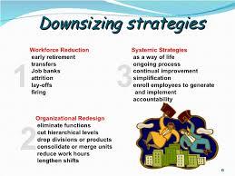 workforce reduction downsizing