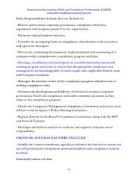 Job Description In Resume by Discover 100 Job Descriptions In Risk And Compliance Management And W U2026