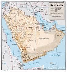 rub al khali map arabian desert physical map africa