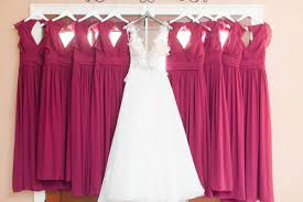 bridesmaids inc blue burgundy fall wedding at stonebridge farms al weddings