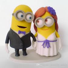 minion centerpieces wedding cake toppers custom dispicable me minions handmade
