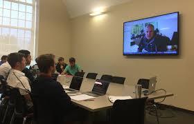 samford students prepare for presentation at nike world