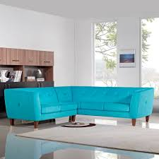 Fabric Sectional Sofa Aqua Sectional Sofa Bondi Blue Fabric Diamond Sofa Modern