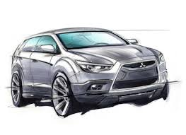 mitsubishi lancer drawing outlander mitsubishi sport drawing járművek pinterest sports