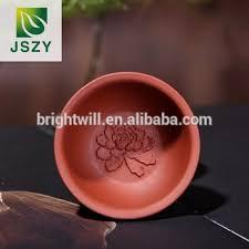 Handmade Tea Cups - yi xing handmade purple clay tea cups two clours with lotus