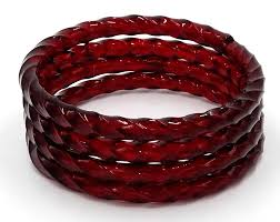 murano glass bangle bracelet images Ruby red twist murano glass bangle set of four jpg