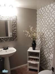 bathroom wall stencil ideas 49 best tiny powder room ideas images on toilet