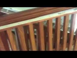 Sanding Banister Spindles Refinishing Railinig And Spindles Youtube