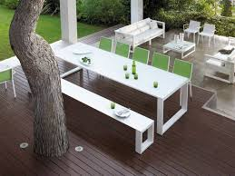Patio Furniture Green by Outdoor U0026 Garden Fascinating White Modern Patio Furniture Set By